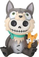 Wolfgang Wolf Furry Bones Skellies Figurine