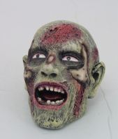 Screaming Zombie Statue