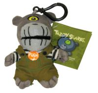 Teddy Scares Abmormal Cyrus Monster Mouth Mini Plush Clip On