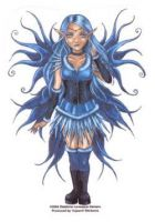 Blue Corset Fairy sticker