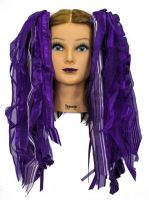Purple Gothic Ribbon Hair Falls by Dreadful Falls