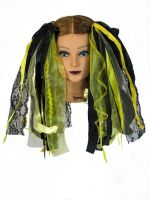Bumble Bee Black and Yellow Gothic Ribbon Hair Falls by Dreadful Falls