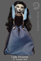 Bleeding Edge Series 5 Begoths 12 inch Leda Swanson Blue RARE Figurine
