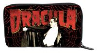 Universal Monsters Black and Red Dracula Spiderweb PVC Vinyl Wallet