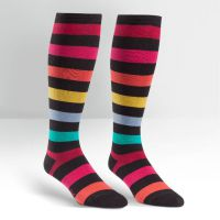 Plus Size Striped Sherbert Wide Calf Curvy Knee High Socks
