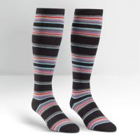 Plus Size New York Striped Wide Calf Curvy Knee High Socks