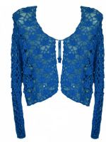 Dark Star Blue Crochet Gothic Shrug Bolero Top