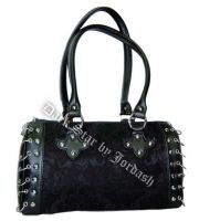 Dark Star Black Gothic Brocade Hand Bag
