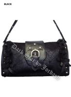 Dark Star Black Gothic Cobweb and Roses PVC Purse