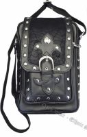 Dark Star PVC Black Cobweb Stud Gothic Shoulder Bag