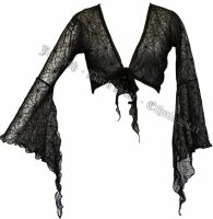 Dark Star Gothic Spider Web Lace Shrug w Bell Sleeves