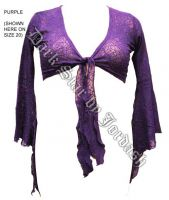 Dark Star Purple Gothic Spider Web Lace Shrug w Bell Sleeves