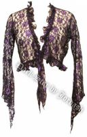 Dark Star Black and Purple Lace Shrug