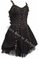 Dark Star Black and Purple Buckle Corset Dress