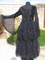 Dark Star Black Lace & Velvet Romantic Gothic Fairytale Dress
