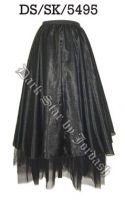 Dark Star Black Gothic Organza Net Skirt