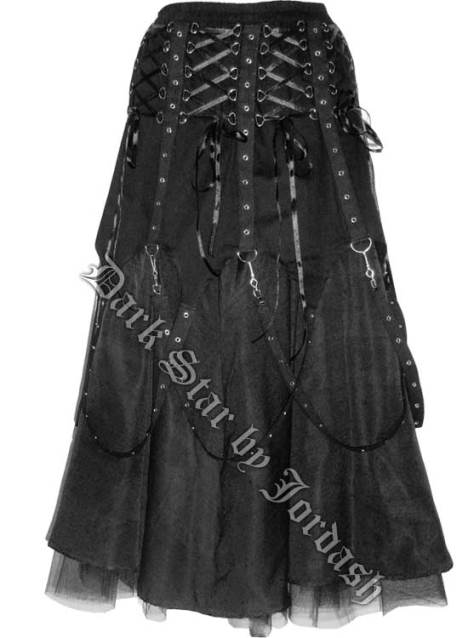 Dark Star Black Chains Gothic Skirt