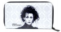 Rock Rebel Black and White Edward Scissorhands Damask PVC Vinyl Wallet