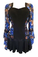 Plus Size Blue Jungle Bolero Lacing Corset Top