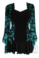 Plus Size Black Gothic Poison Ivy Bolero Lacing Corset Top