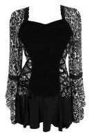 Plus Size Silver Cheetah Bolero Lacing Corset Top
