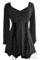 Plus Size Electra Corset Top in Charcoal Grey
