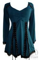 Plus Size Electra Corset Top in Dark Teal