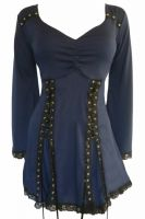 Plus Size Electra Corset Top in Midnight Blue