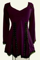 Plus Size Electra Corset Top in Purple Mulberry