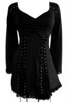 Plus Size Electra Corset Top in Black Raven