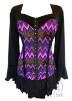 Plus Size Corsetta Top in Purple Wave
