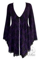 Plus Size Embrace Corset Sweater Duster Jacket in Purple Tarot