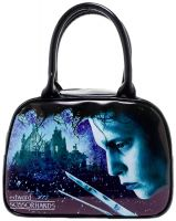 Edward Scissorhands Snowflakes Bowler Purse Handbag