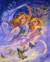 Gemini Zodiac Collector's Card by Josephine Wall