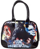 Black PVC Vinyl Young Frankenstein Purse Handbag