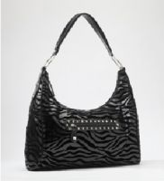 Rock Rebel Black Zebra Hobo Purse