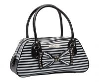 Rock Rebel Black and White Bow Stud Handbag