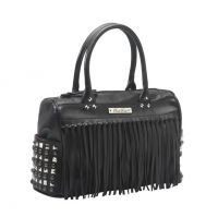 Rock Rebel Black Studded Gothic Cargo Fringe Purse