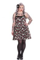 Hell Bunny Plus Size Gothic Eyeball Perry Halter Dress