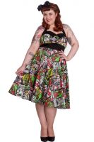 Hell Bunny Plus Size Rockabilly B Movie Horror 50's Dress