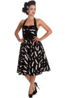 Hell Bunny Black & White Bat Halloween Halter Rockabilly 50's Dress