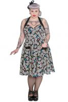 Hell Bunny Plus Size Gothic Calavera Skull 50's Rockabilly Dress
