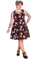 Hell Bunny Plus Size Gothic Skull Spiderweb Rock and Ruin Dress