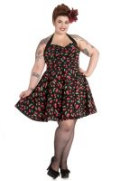 Hell Bunny Plus Size Cherry Pop Rockabilly Mini Dress