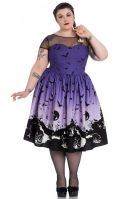 Hell Bunny Plus Size Purple Halloween Haunt 50's Dress