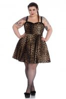 Hell Bunny Plus Size Punk Leopard Panthera Mini Dress