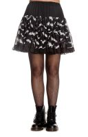 Hell Bunny Black and White Lace Gothic Bat Skirt