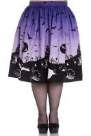 Hell Bunny Plus Size Purple Halloween Haunt Gothic Skirt