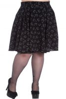 Hell Bunny Plus Size Black Cat Meow Gothic Matou Mini Skirt