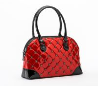 Rock Rebel Red Lucy Quilted Handbag with Spiders Purse by GG Rose